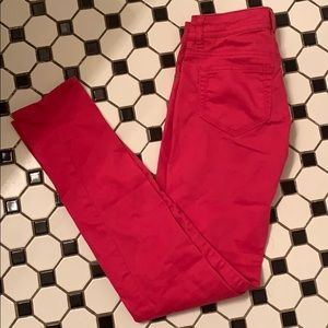 Mossimo Supply Company hot pink skinny jeans